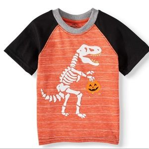 Halloween Toddler Boy Short Sleeve Raglan T-Shirt